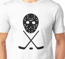 Ice Hockey Sticks and Mask Unisex T-Shirt