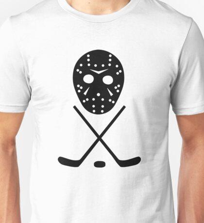 Ice Hockey Sticks and Mask Unisex T-Shirt