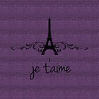 Purple Vintage French Flourish by superstarbing