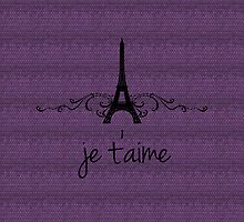 Purple Vintage French Flourish by superstarbing