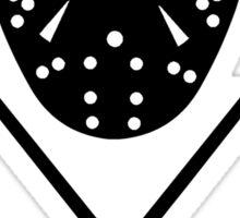 Ice Hockey Sticks and Mask Sticker
