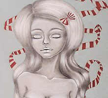 Pretty in Ribbon Fine Art by Juliette Vaissiere