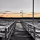 Murray's Beach Wharf - NSW Australia by Bev Woodman