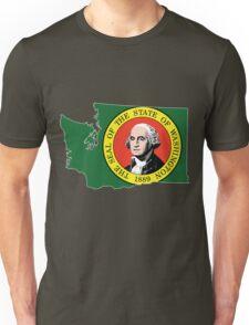 Washington State Rasta [Wht] | SteezeFSC Unisex T-Shirt