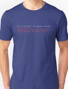 PowerShell Error 2 Unisex T-Shirt