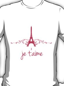 Pink Vintage French Flourish T-Shirt