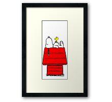 Snoopy and Woodstock Sleeping Framed Print