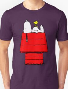 Snoopy and Woodstock Sleeping T-Shirt