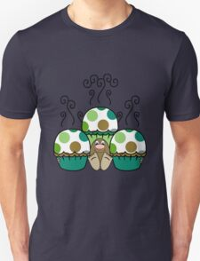 Cute Monster With Green And Brown Polkadot Cupcakes Unisex T-Shirt