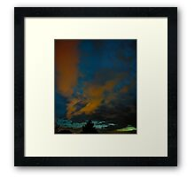 ©HCS Red And Blue Sky Vertical Framed Print