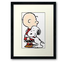 Snoopy Hugs Charlie Framed Print