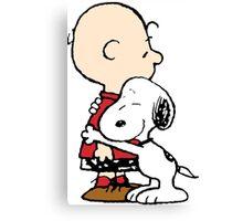 Snoopy Hugs Charlie Canvas Print
