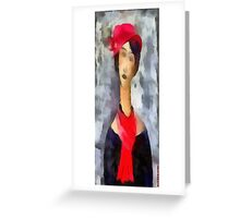(My funny gallery) Hat..Pashmina..Modì Greeting Card