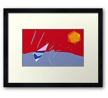 On the Beach; summer Framed Print