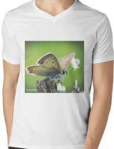 Asking the butterfly- Wandering forest 11 Mens V-Neck T-Shirt
