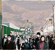 London filled with masks by taudalpoi