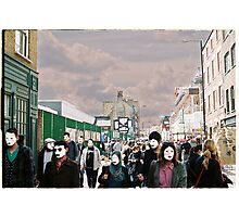 London filled with masks Photographic Print