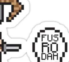 Fus-Ro-Bubble-Bobble  Sticker