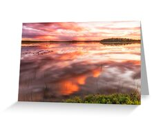 Evening's Embers Greeting Card