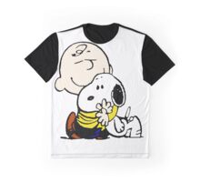 Charlie Brown Loves Snoopy Hug Graphic T-Shirt