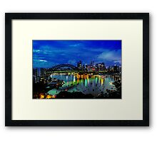 Right Place Right Time (Revisited) - Moods Of A City - The HDR Experience Framed Print