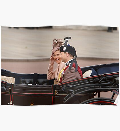 Prince Edward with Sophie on their way to Trooping the Colour Poster