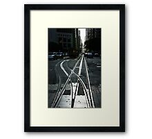 San Francisco Silver Cable Car Tracks Framed Print
