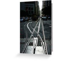 San Francisco Silver Cable Car Tracks Greeting Card