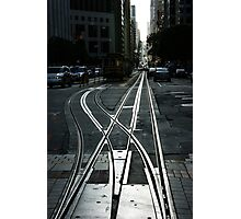 San Francisco Silver Cable Car Tracks Photographic Print
