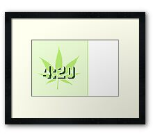 4:20 - Legalize Cannabis VRS2 Framed Print