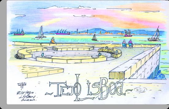 Ribeira das Naus sketch. Lisbon by terezadelpilar~ art & architecture
