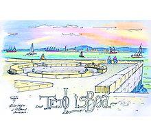 Ribeira das Naus sketch. Lisbon Photographic Print