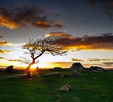 Star Burst at Dog Rocks - Batesford Victoria by Graeme Buckland