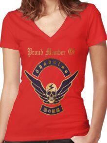 Proud Member of Shadaloo Women's Fitted V-Neck T-Shirt