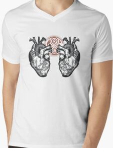 The Twin Heartbeat of a Time Lord Mens V-Neck T-Shirt