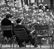 Relaxing in Jardin des Tuileries by Karen E Camilleri