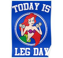 Today Is Leg Day Funny Gym Fitness Poster