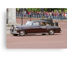 Prince Harry, Prince William & Kate arrive at Buckingham Palace Canvas Print