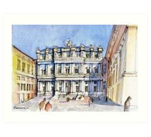 Palazzi Ducale a Genova- color version Art Print