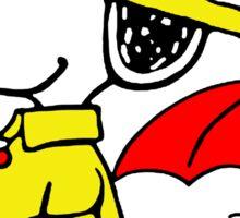 Raining Snoopy and Woodstock Sticker