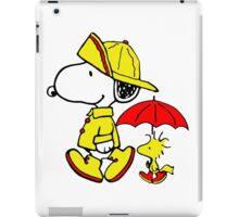 Raining Snoopy and Woodstock iPad Case/Skin
