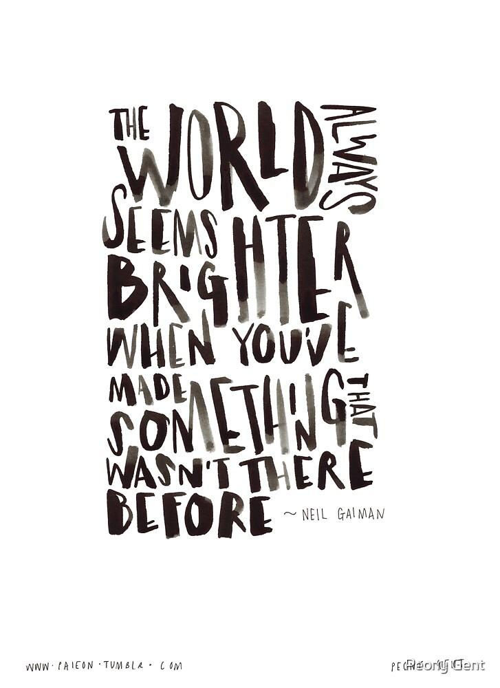 Brighter World by Peony Gent