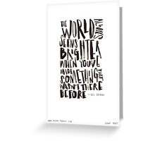 Brighter World Greeting Card