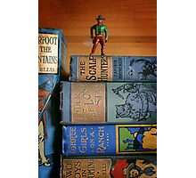 The scalphunters - Vintage Bookshelf Photographic Print