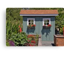 University Place Garden Tour - Home #! Garden Shed Canvas Print