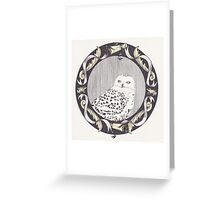 Snowy Spectre Greeting Card