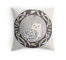 Snowy Spectre Throw Pillow