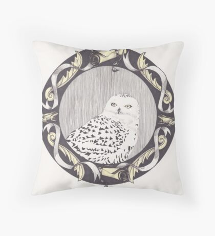 Snowy Spectre Throw Pillow