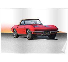 1963 Corvette Roadster Poster
