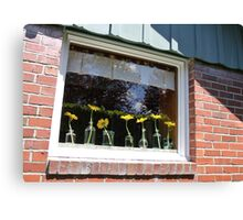 University Place Garden Tour - Home #1 Dancing Gerbera Daisies on a Sill Canvas Print